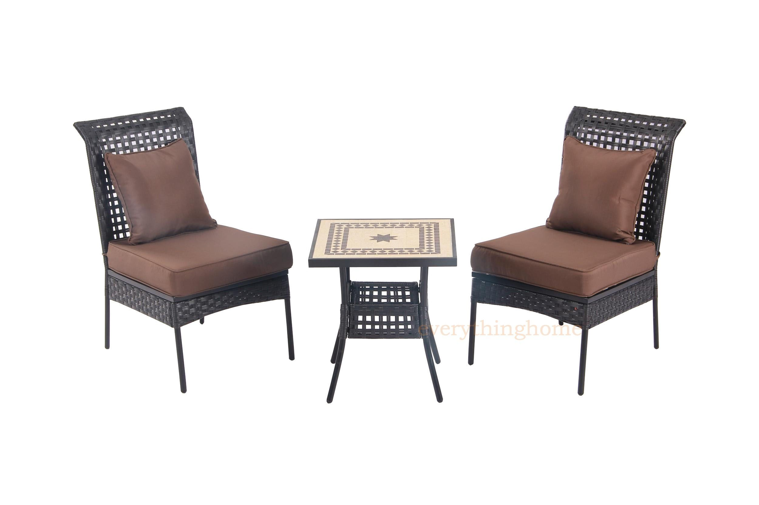 Sonoran all weather wicker piece patio bistro set table outdoor