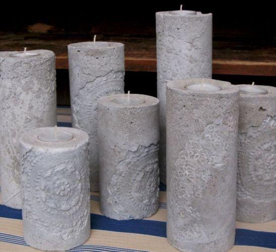 Diy Concrete Candle holders u2026 Crafts Clay and Gumpaste crafts - ideen für küchenwände