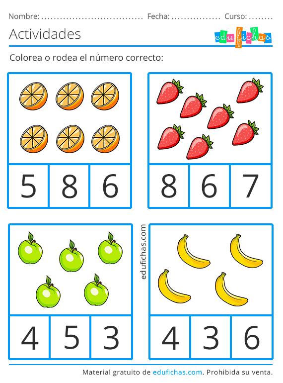 35 Ideas De Aprender Los Números Fichas Aprendiendo Los Numeros Aprender A Contar