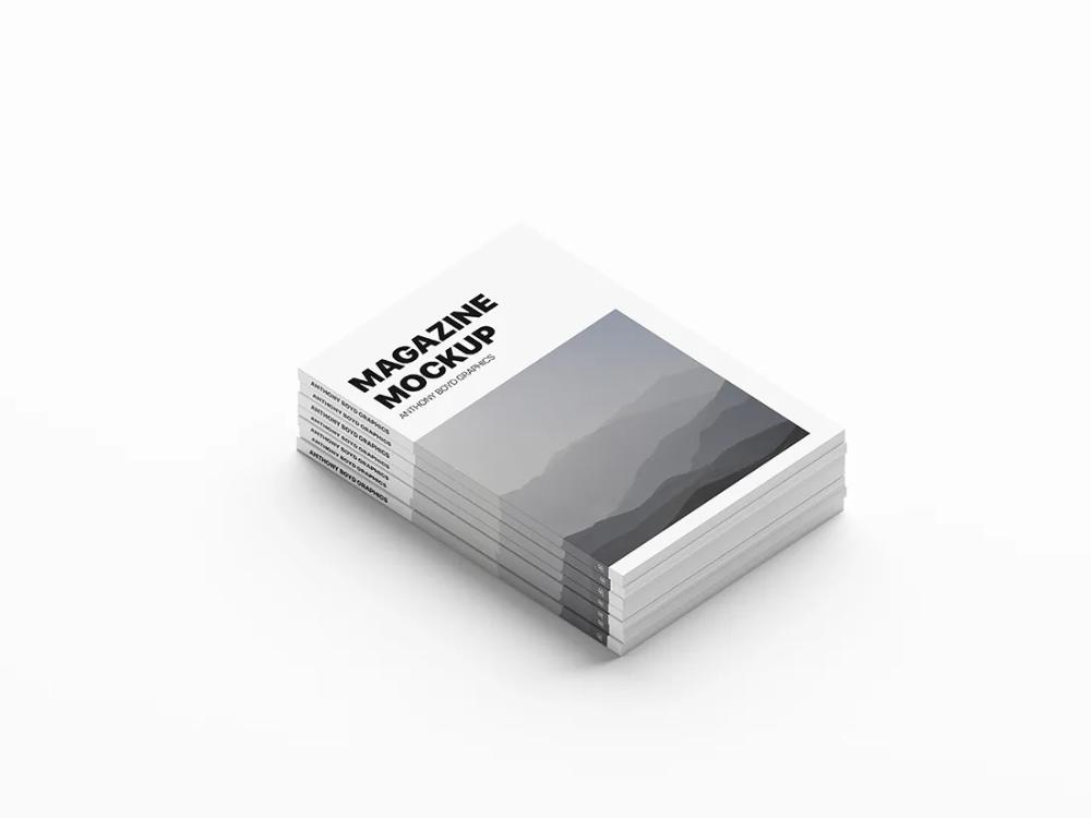 Stacked Magazines Mockup Magazine Mockup Magazine Mockup Free Free Mockup Book