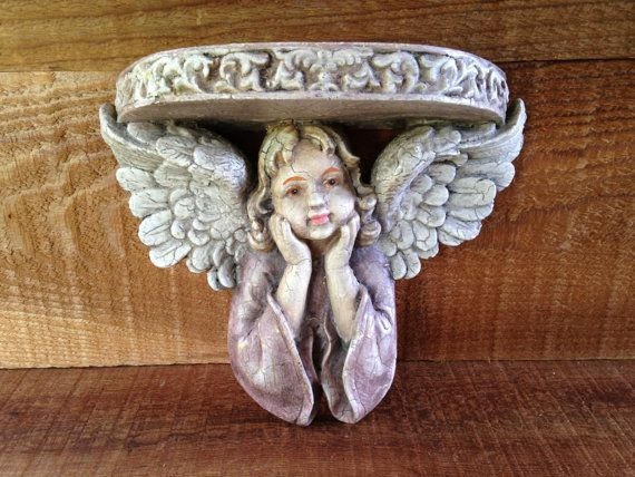 Angel Figurine Shelf  Small Romantic Cherub by EightBoardsFarm, $25.00
