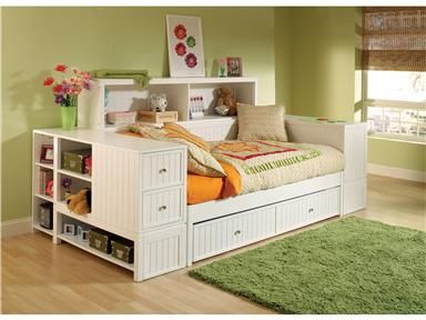 Hillsdale Furniture Bedroom Cody Bed End Bookcase Chest 1604 786 At Furniture  Plus Inc.
