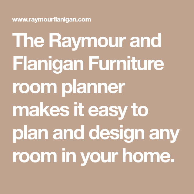 The Raymour And Flanigan Furniture Room Planner Makes It Easy To Plan And  Design Any Room In Your Home.