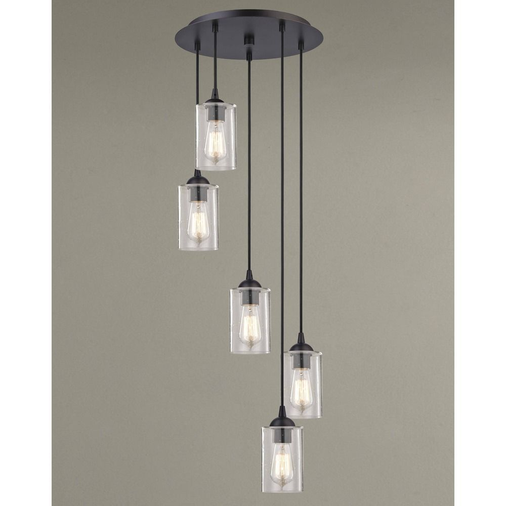 Seeded glass multi light pendant bronze 5 lt multi light pendant design classics lighting design classics gala fuse neuvelle bronze multi light pendant with cylindrical shade aloadofball Image collections