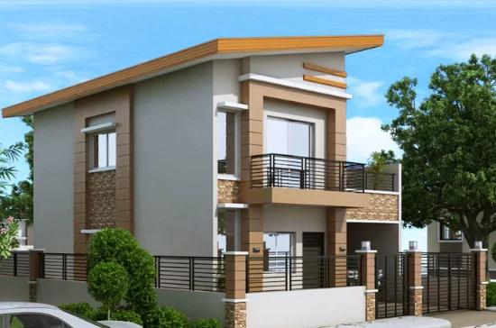 Desain Rumah Minimalis Modern 2 Lantai 4 Kamar Tidur Di 2020 Denah Lantai Rumah Rumah Kontemporer Arsitektur Rumah