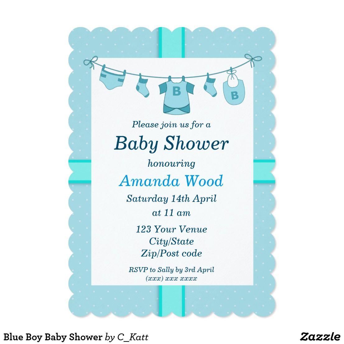 Blue Boy Baby Shower Invitation Zazzle Com Blue Baby Shower Invitations Boy Baby Shower Card Baby Shower Invitations For Boys