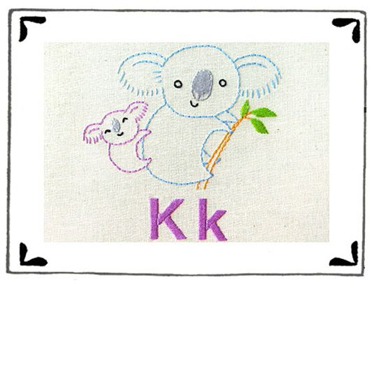 """K"" is for Koala Pattern"
