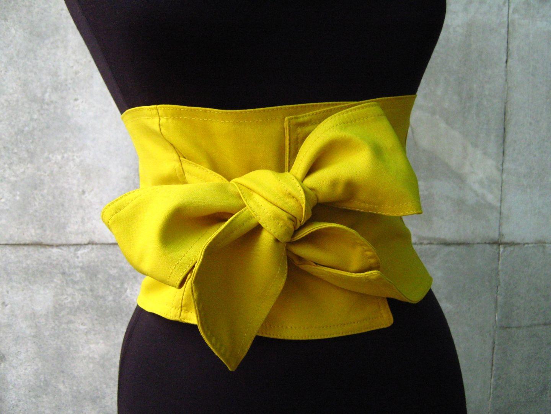 élégant  Corset -ceinture ruban en tissu - boucle