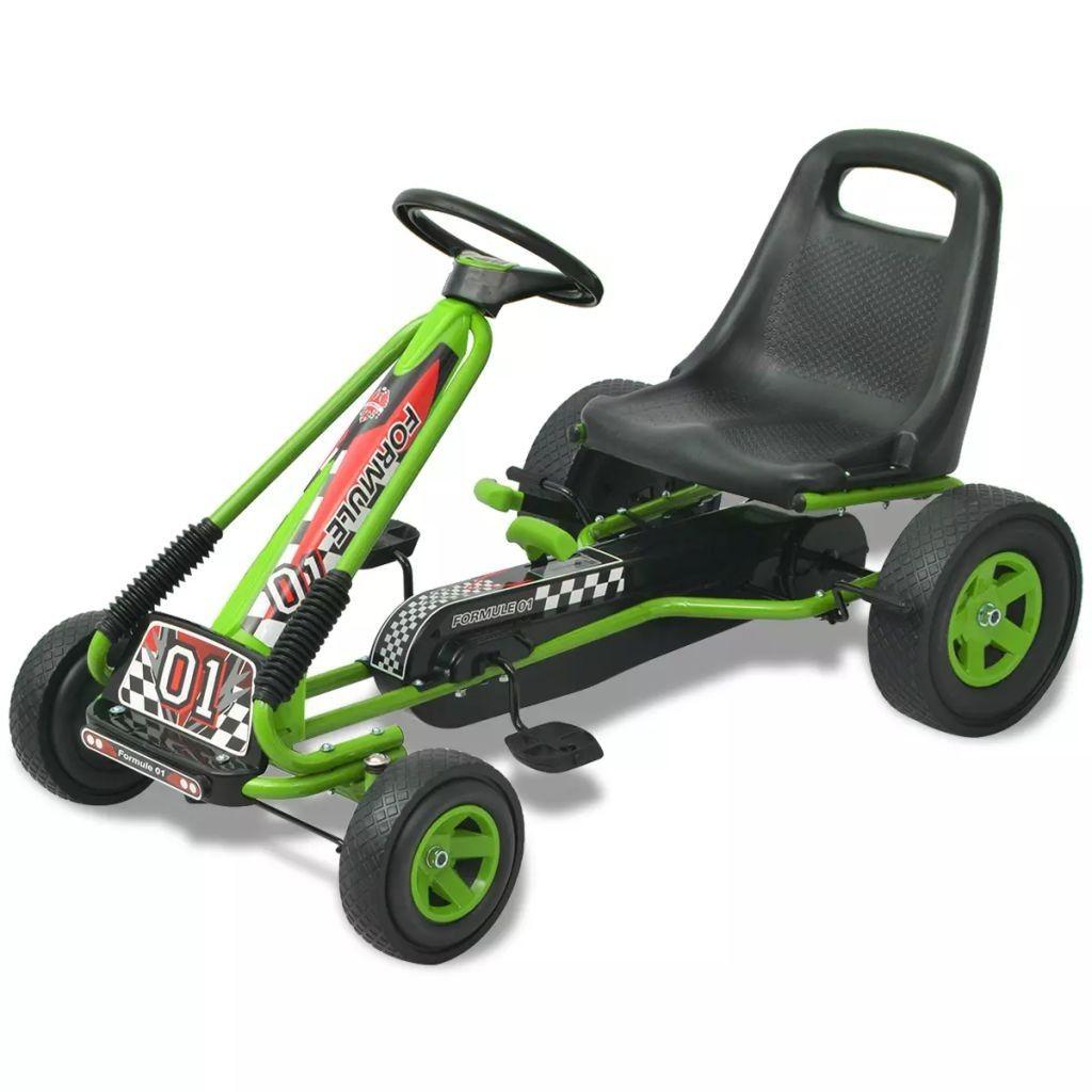 kart kjøring Pedal go kart med justerbart sete grønn , Dine barn vil ha masse  kart kjøring