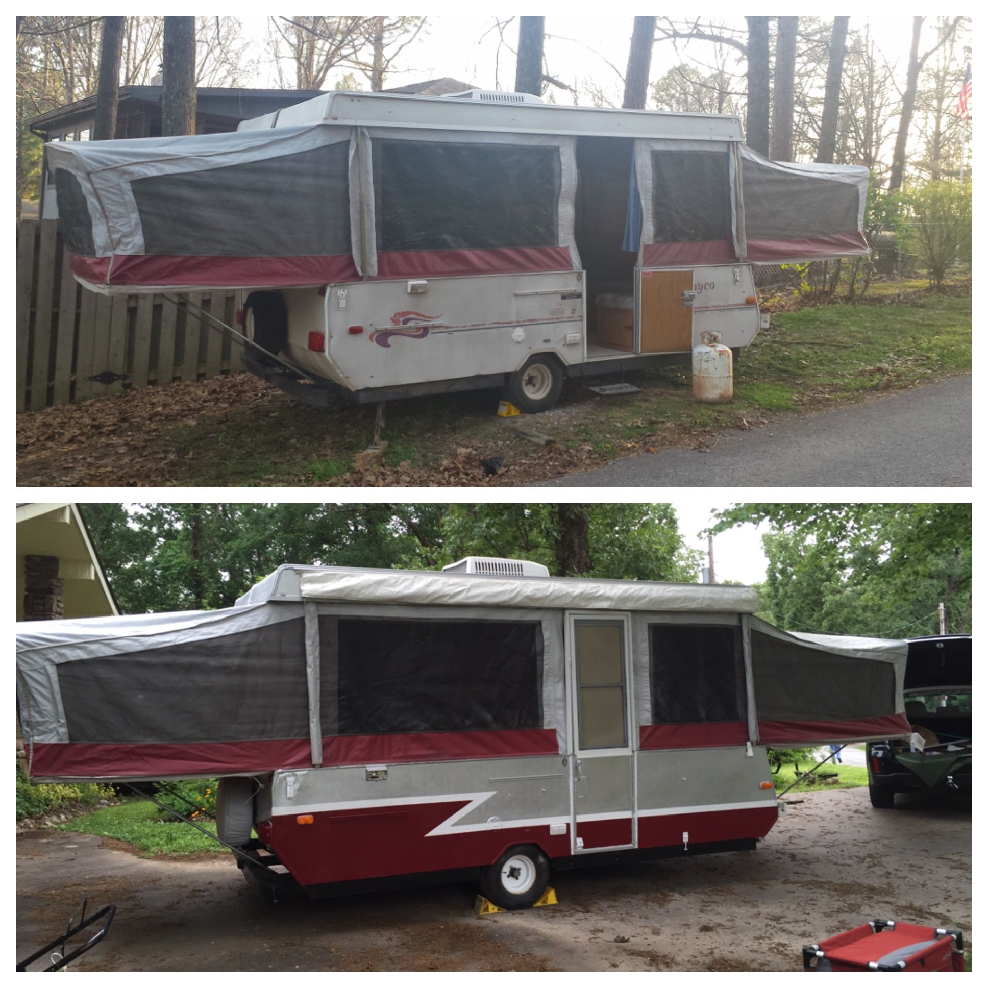 Before And After 1995 Jayco Eagle 12udk Pop Up Camper Jayco Pop