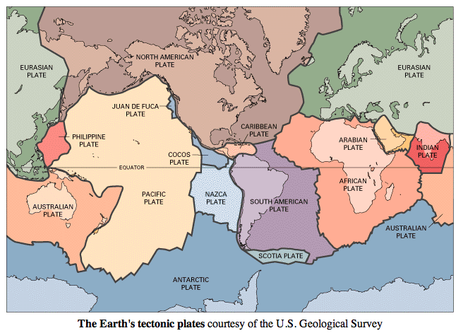 The earths tectonic plates maps pinterest geology earth and the earths tectonic plates gumiabroncs Image collections