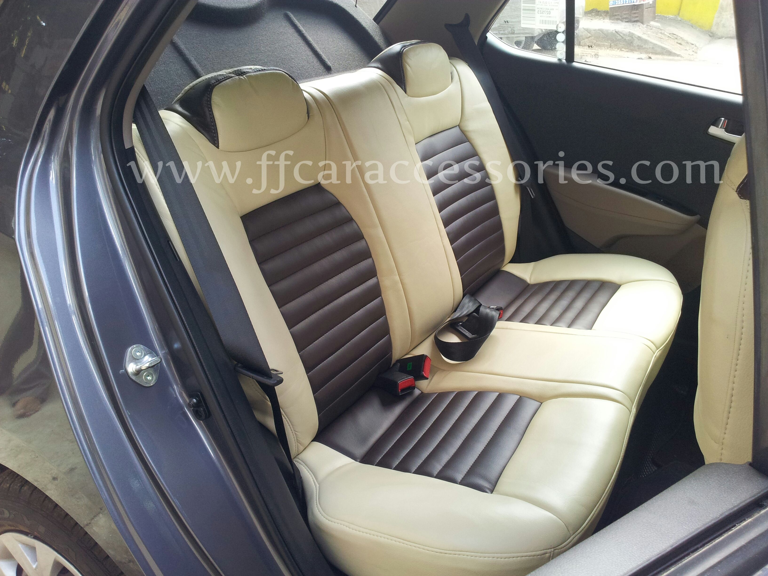 HYUNDAI Grand I 10 custom fit car seat covers work done by Team FF ...