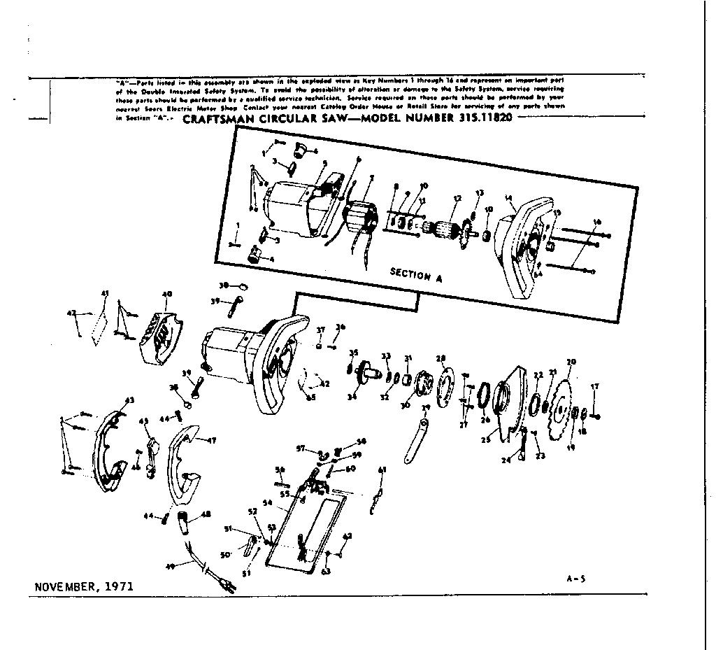 Craftsman Circular Saw Parts Diagram