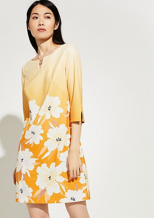 comma Dress with a floral pattern