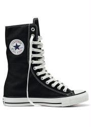 e238238adab Tênis Cano Alto All Star Preto e Branco Calçados Femininos Online