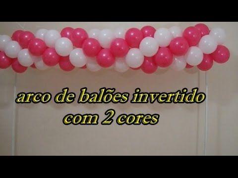 Arco De Baloes Invertido Com 2 Cores Arc Inverted Balloon With 2