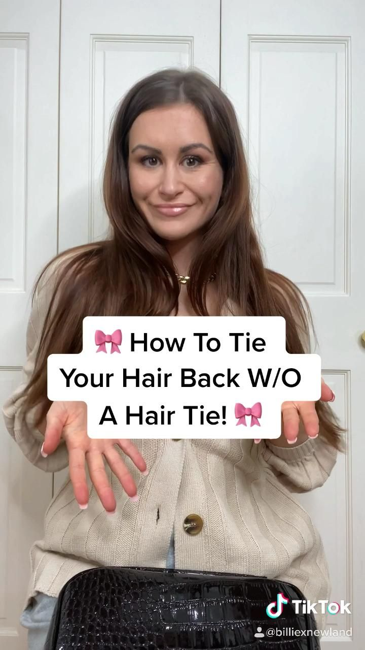 How To Tie Your Hair Back Without A Hair Tie Video In 2020 Hair Hacks Hair Styles Easy Hair Up