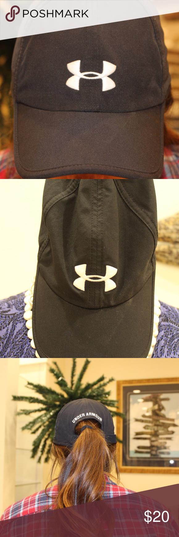 Under Armour Hat Black Hat White Under Armor Symbol Never Been Worn