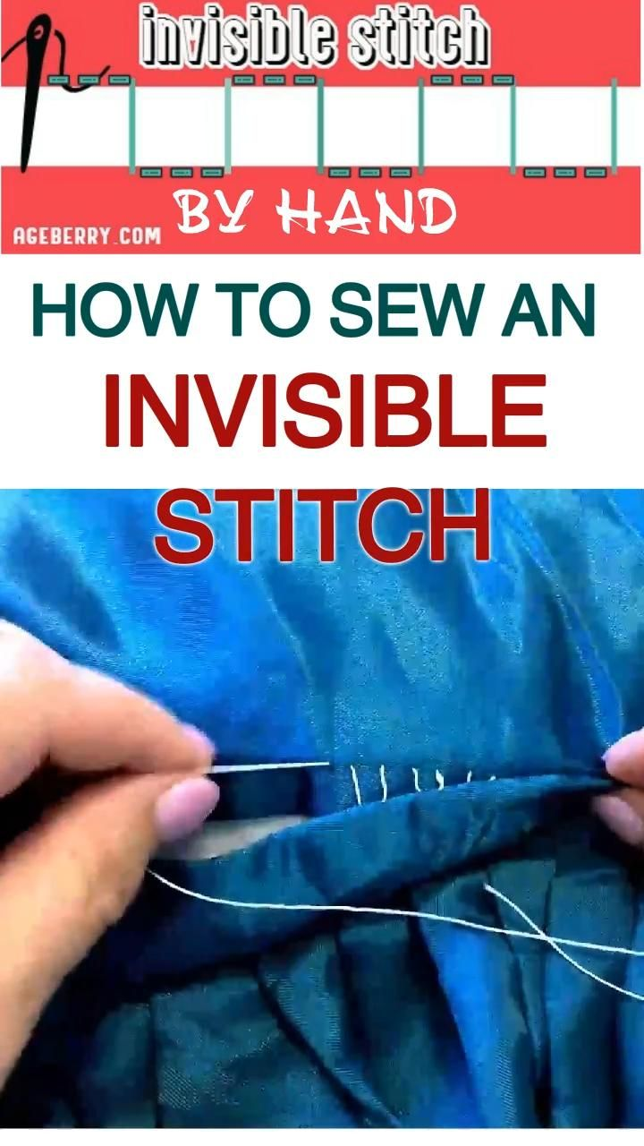 How to sew an invisible stitch by hand - a video sewing tutorial
