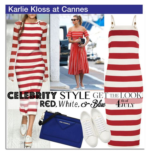 """""""Get the Look: Karlie Kloss at Cannes"""" by esch103 ❤ liked on Polyvore featuring MaxMara, Karl Lagerfeld and Yves Saint Laurent"""