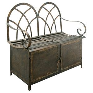 Wrought Iron Storage Bench Google Search Rustic Style Furniture Furniture Rustic Furniture
