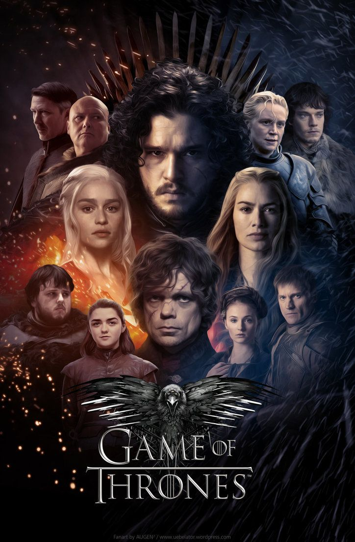 Game Of Thrones Fanart Poster By Uebelator Game Of Thrones Poster Game Of Thrones Tv Game Of Throne Actors