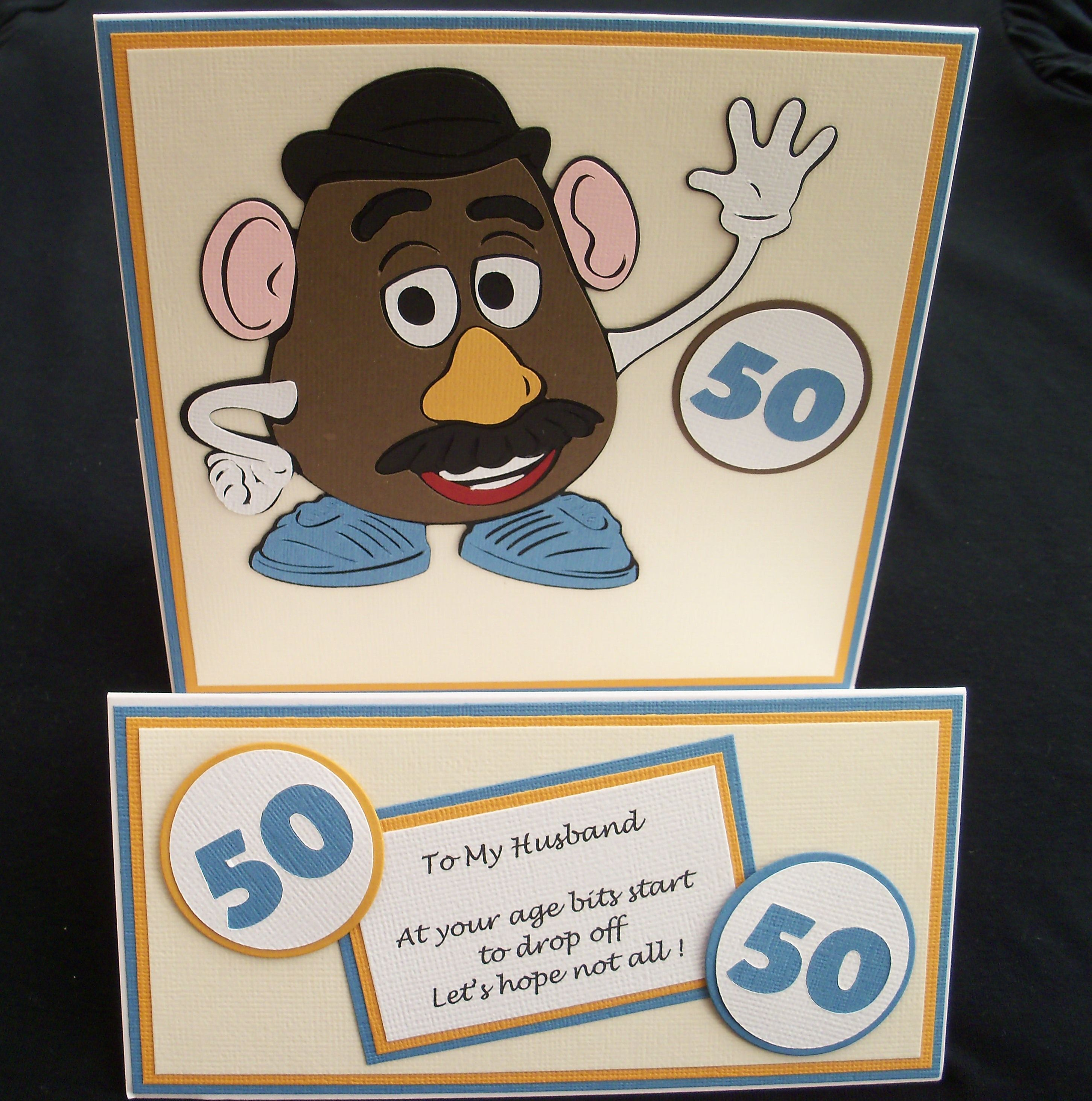Cricut Mr Potato Head 50th birthday card Birthday cards – Mr Potato Head Birthday Card