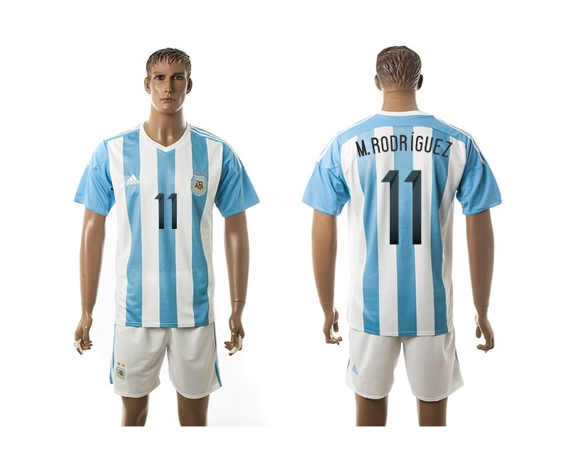 51b0917d5a6ee ... T-SHIRT 2015-2016 Argentina 11 M.RODRIGUEZ Home Soccer Jersey 2016  Mexico ...