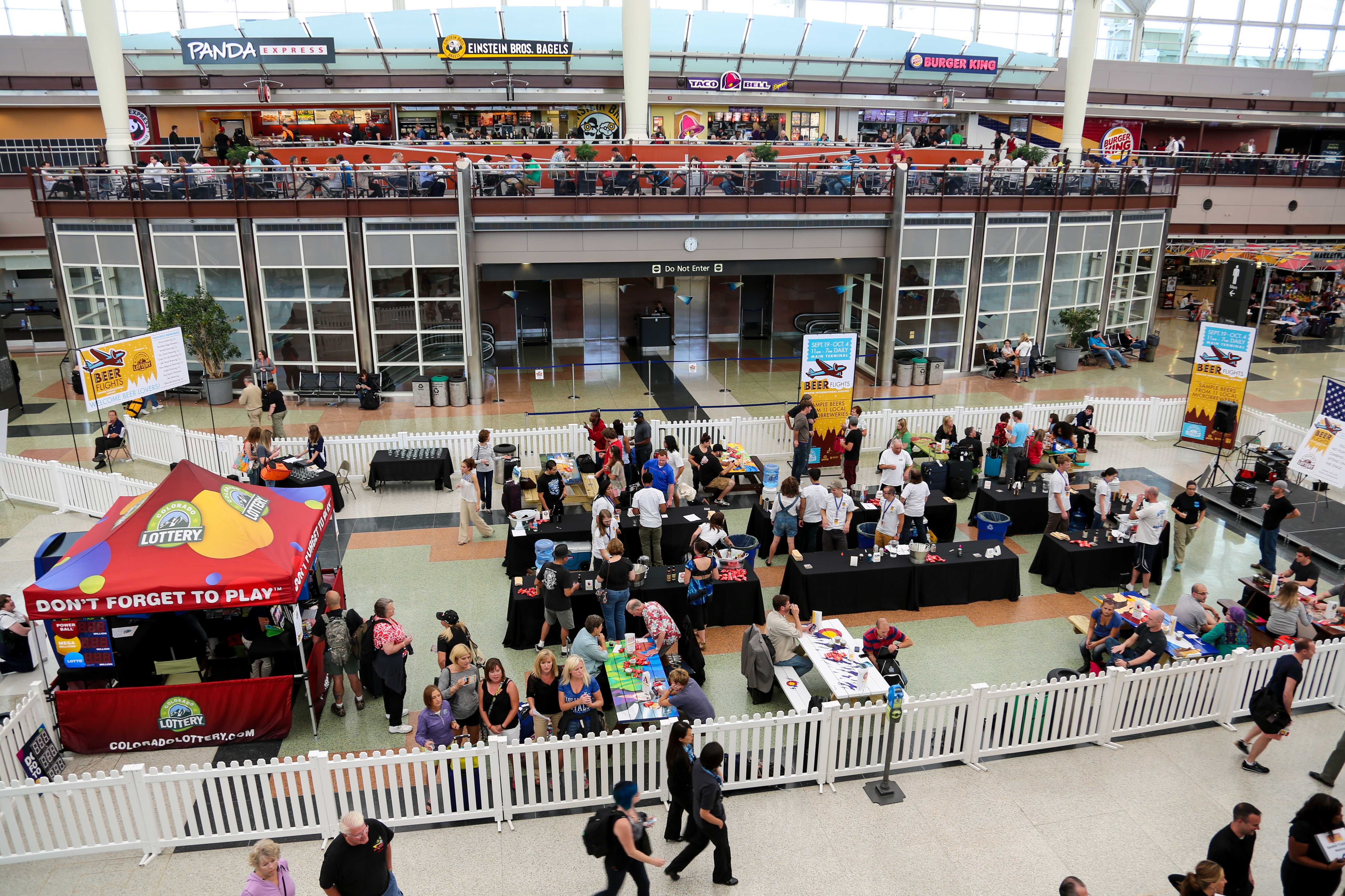 Beer Flights at DIA Cruise vacation, Denver airport