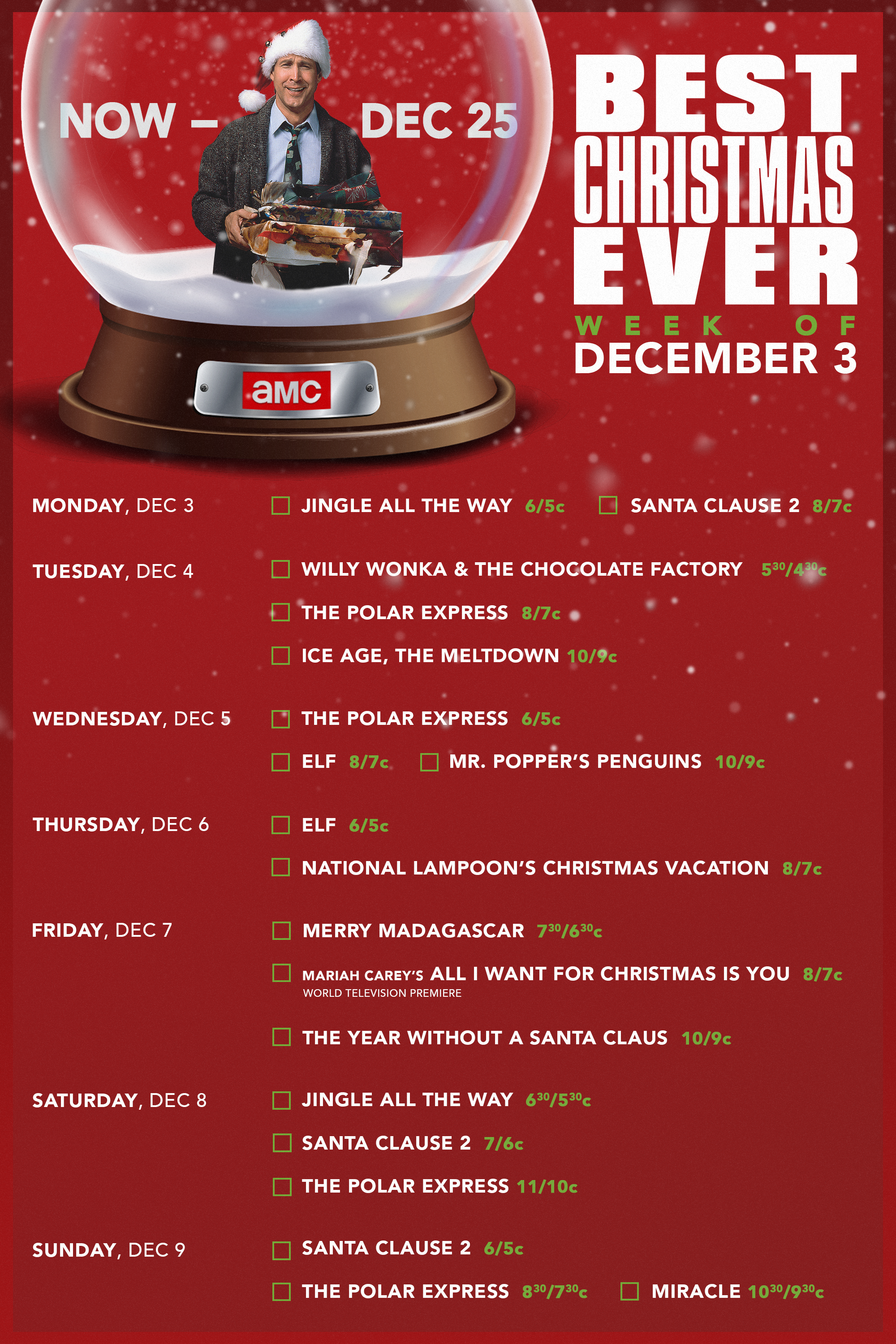 Amc S Bestxmasever Is On Now The Way Movie Christmas Fun Jingle All The Way