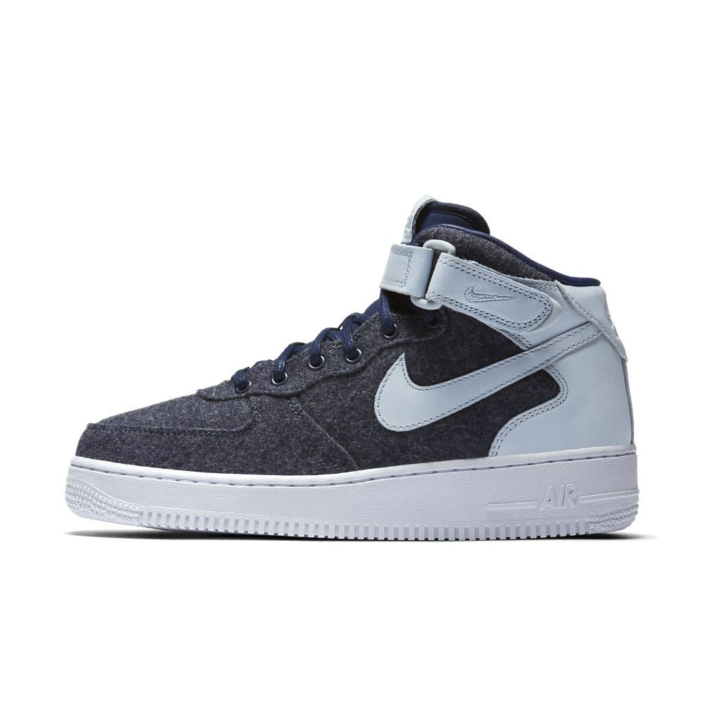 Nike Wmns Air Force 1 07 Mid Leather Premium Women Blue