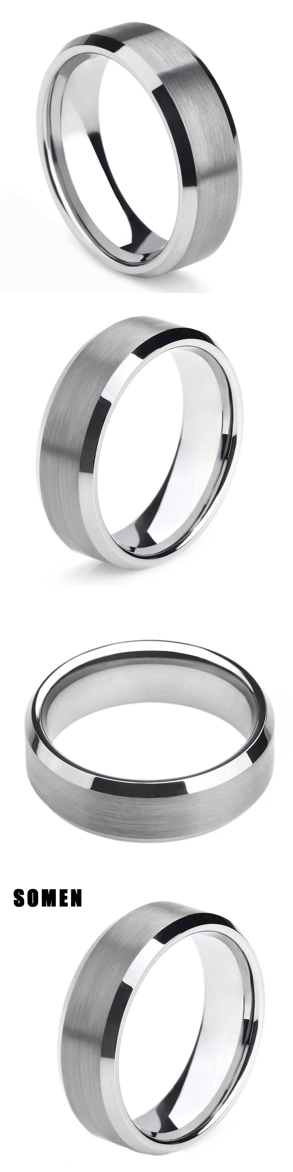 rose queenwish black wedding blue gold ring best brushed rings stripe of tungsten carbide