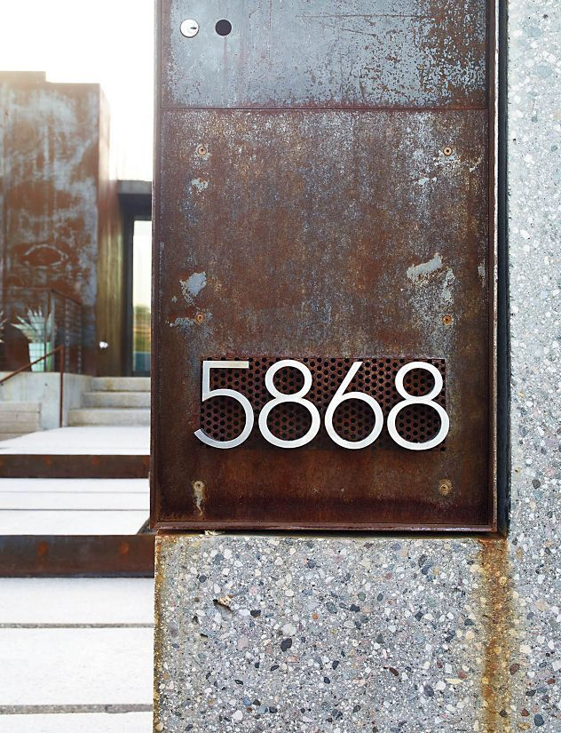 Neutra Modern House Numbers Design Within Reach DWRcom