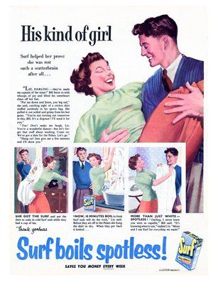 1950s ads for Surf washing powder | Vintage ads, Vintage ...