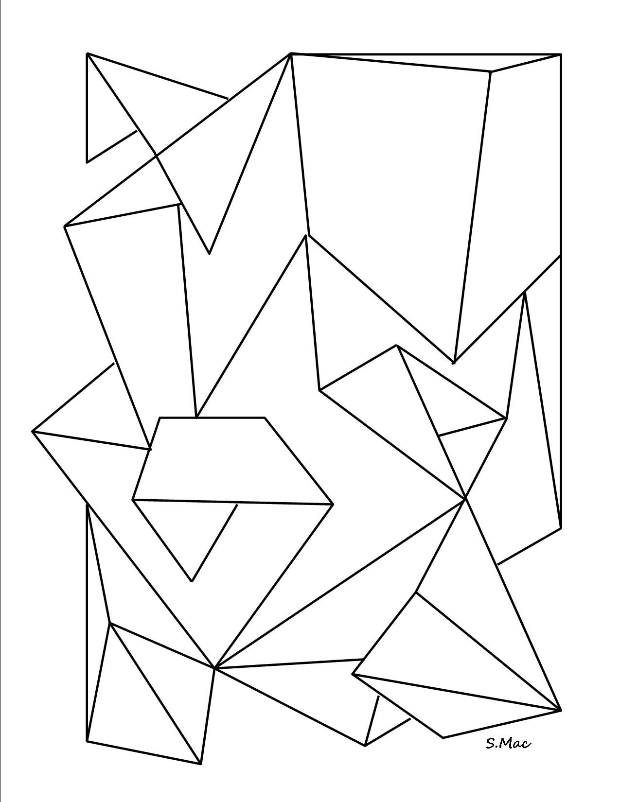 - Pages Geometric Shapes Coloring Pages Kindergarten Geometric