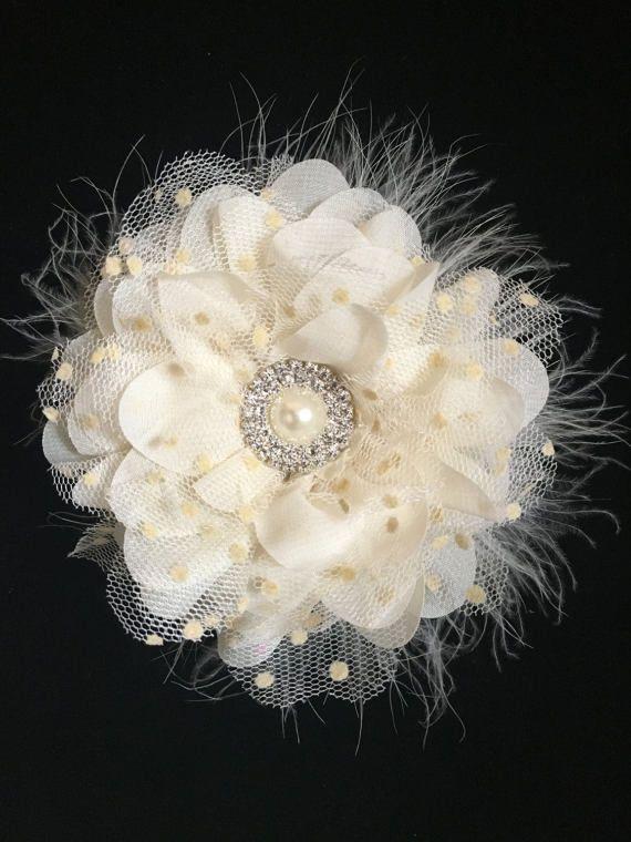90a46cbb6156 Ivory Flower Hair Clip
