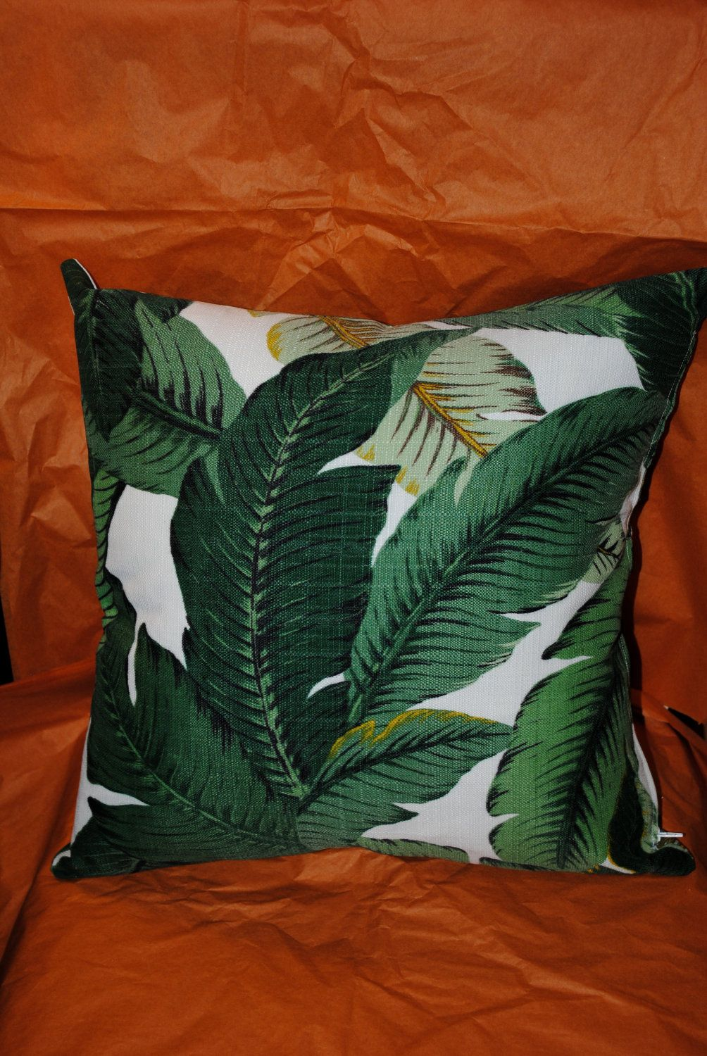 Banana Leaf pillows, like the wallpaper at the Beverly