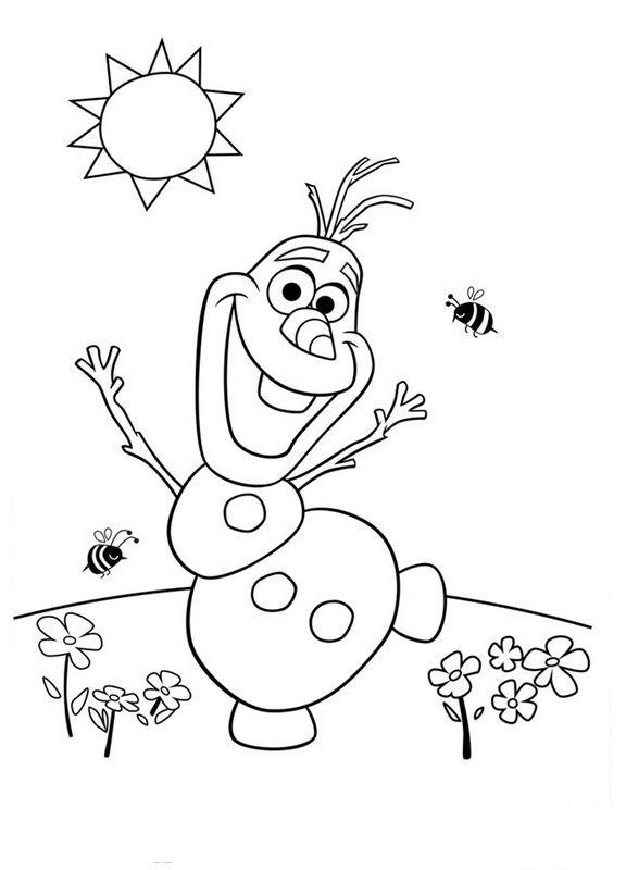 olaf ausmalbilder   Ausmalbilder für kinder   Frozen para ...