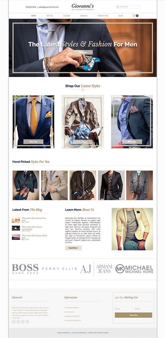 Clothing & Fashion Website Design Theme | Website Template Themes ...