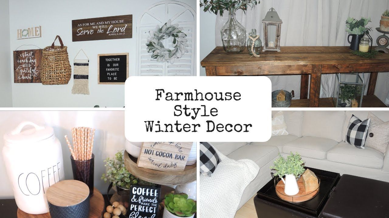 Christmas Home Tours 2019 Youtube Farmhouse Style Winter Decor Tour 2019   YouTube | Farm