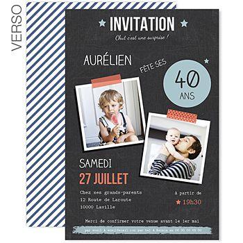 Épinglé sur Carte / Invitation DIY
