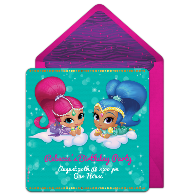 Free shimmer and shine genies invitations birthdays free and customizable free shimmer and shine genies online invitations easy to personalize and send for a shimmer and shine birthday party filmwisefo Choice Image