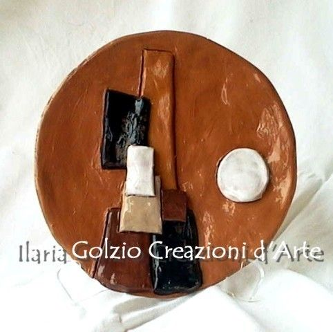 """""""MONT SAINT MICHEL"""" - Scultura in ceramica - Diametro Cm.20 ca."""