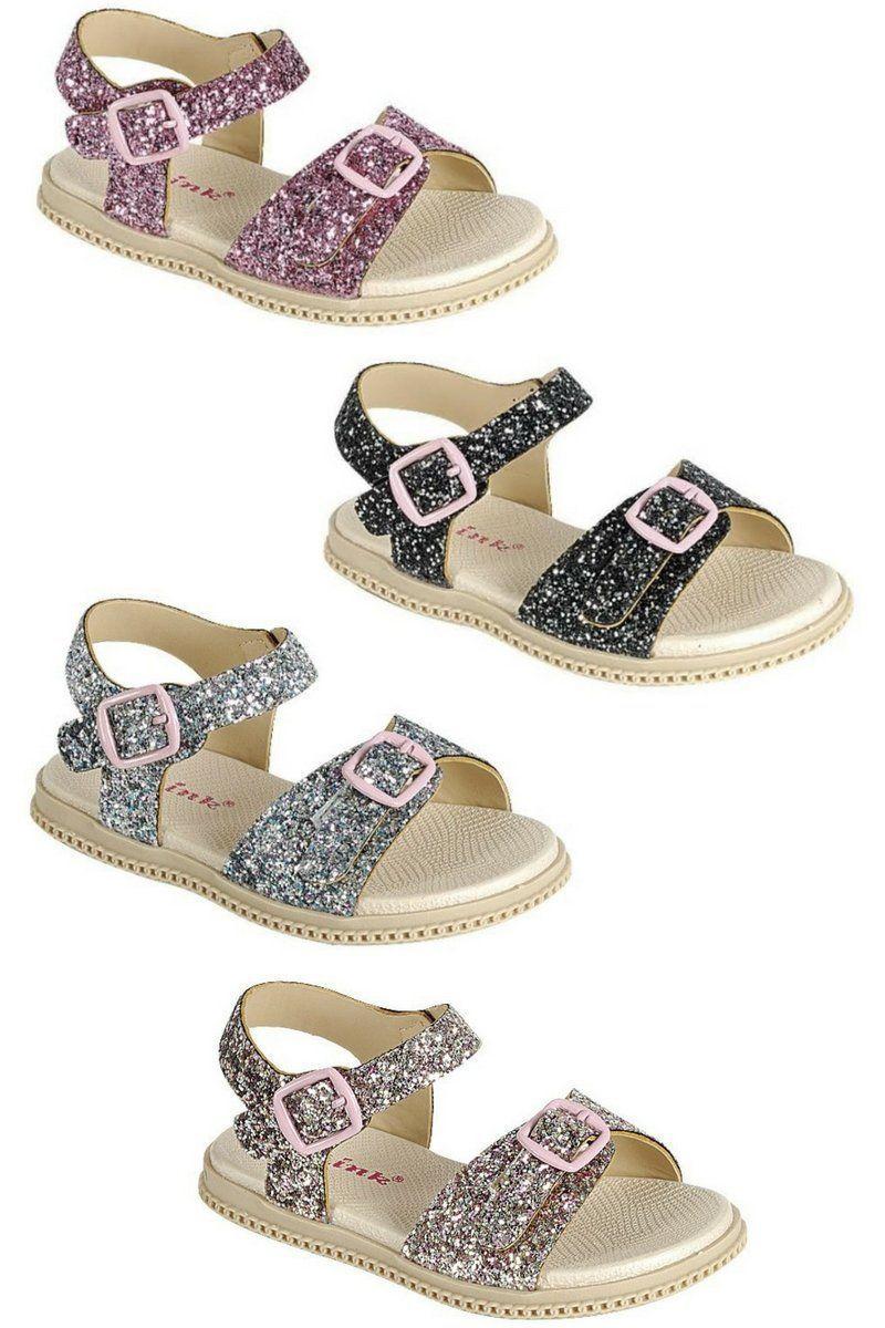290865eb187 Girls premium glitter sandals - Flower girl shoes - Toddler glitter shoes -  Girls sliver glitter sparkly sandals - Girls light pink glitter shoes -  Girls ...
