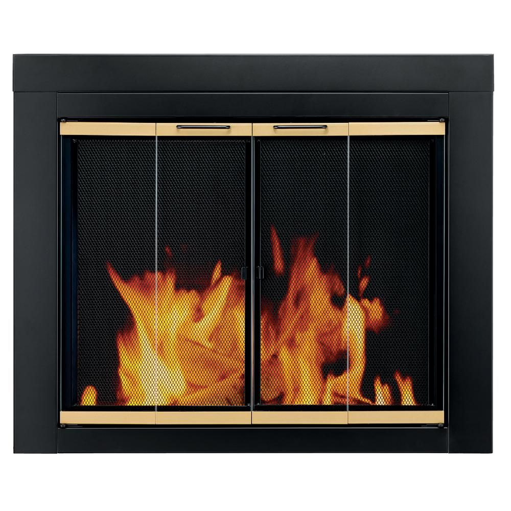 Pleasant Hearth Arrington Large Glass Fireplace Doors Fireplace Glass Doors Fireplace Doors Fireplace Screens