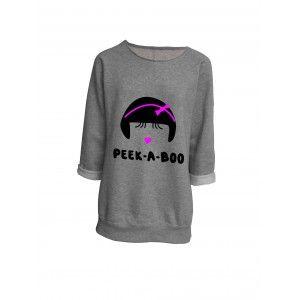 Peek-A-Boo oversized sweater grijs