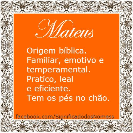 significado do nome matheus