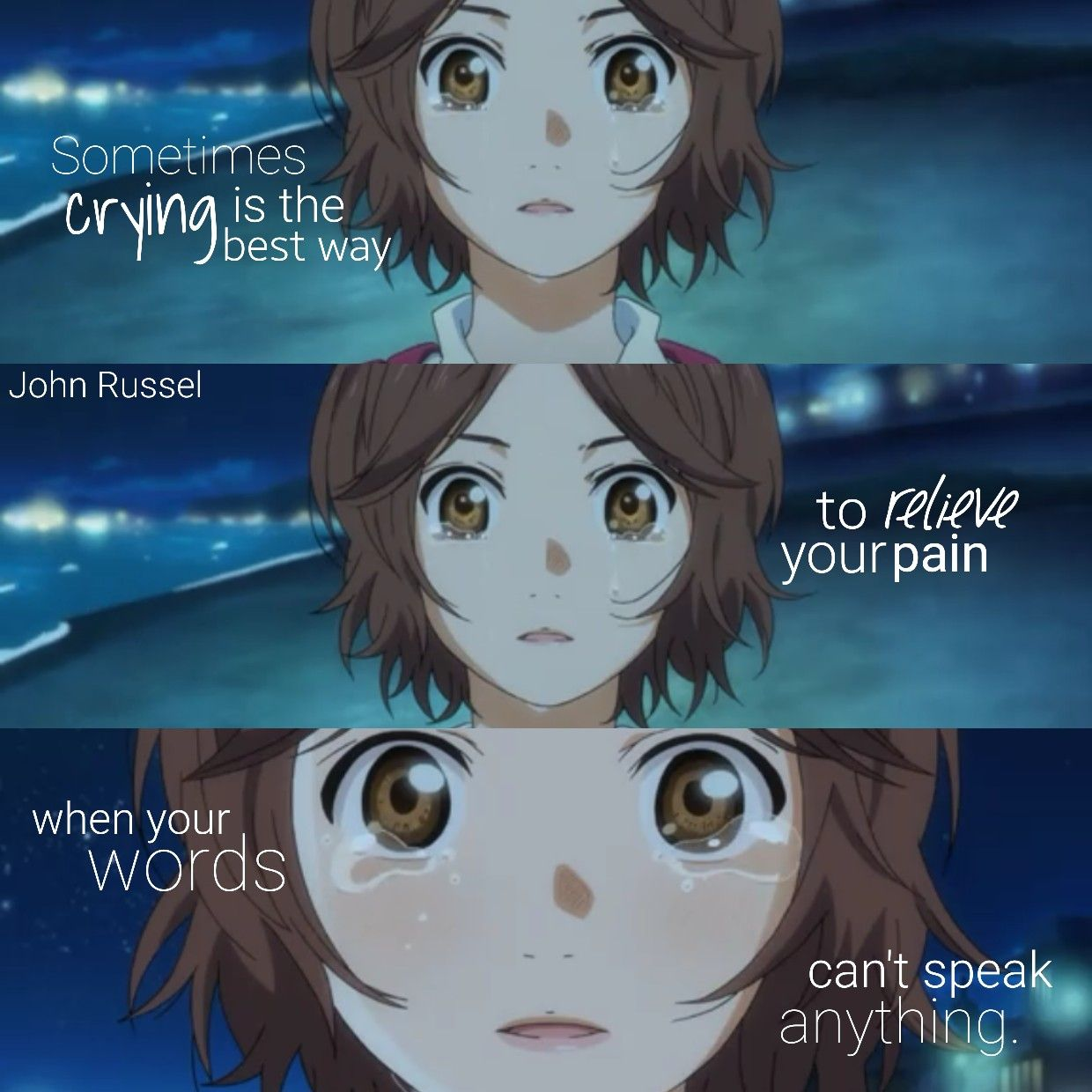 Your lie in april  Girl power quotes, Anime quotes inspirational