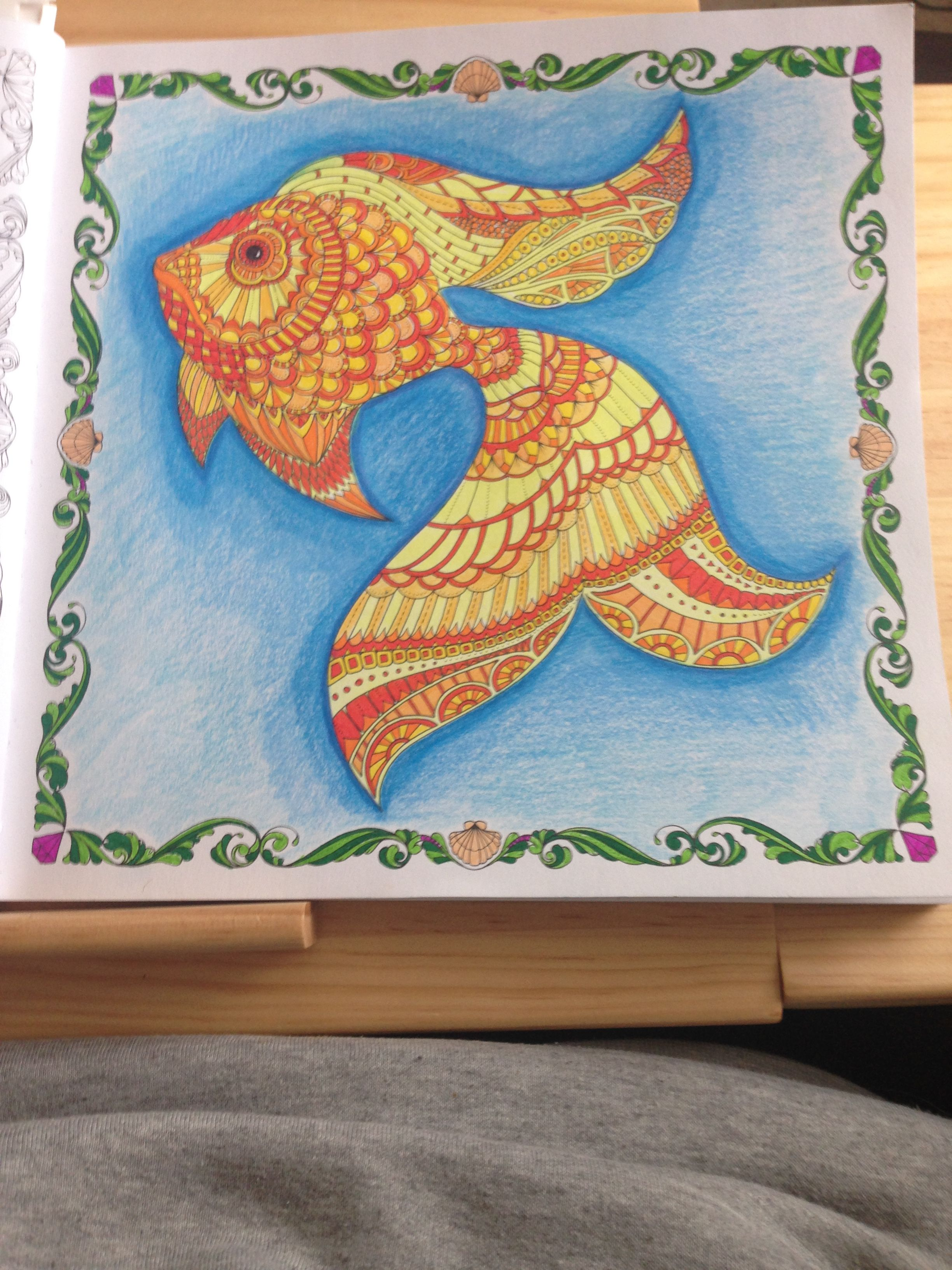 Staedtler Triplus Fineliners Whsmith Pencil For Background Lost Ocean By Johanna Basford