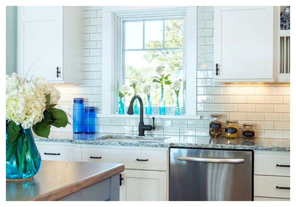 Backsplash Around Kitchen Window - Kitchen Design Ideas